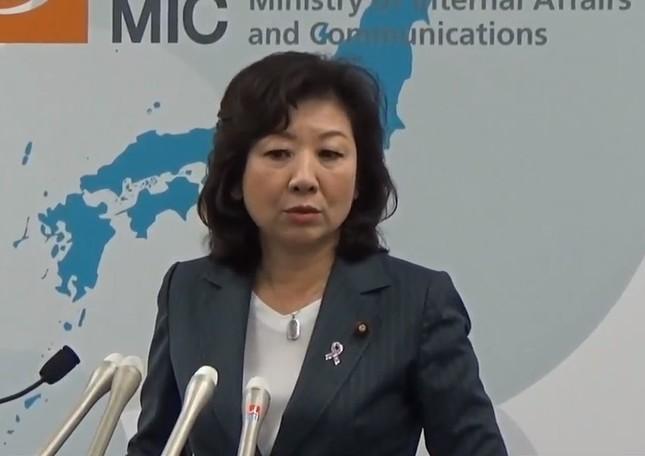 野田聖子総務相は竹下氏の発言に違和感をにじませた(写真は総務省の記者会見動画から)