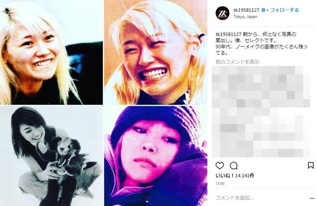 11月22日のいい夫婦の日には90年代のKEIKOさんの写真をいくつかインスタで公開写真は小室哲哉さんのインスタグラムより)