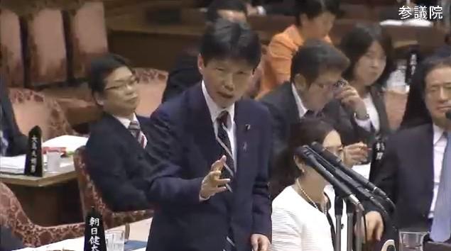 予算委で質問に立つ山本一太氏(参院公式サイトの動画から)