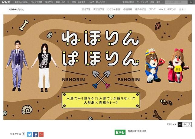 NHKの人気番組「ねほりんぱほりん」(公式サイトより)