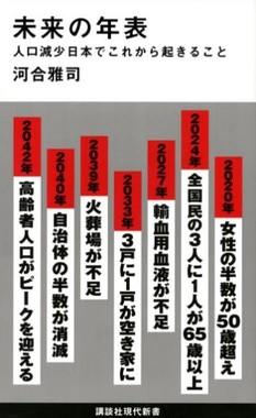 河合雅司『未来の年表』(講談社新書・画像は講談社の公式ホームページより)
