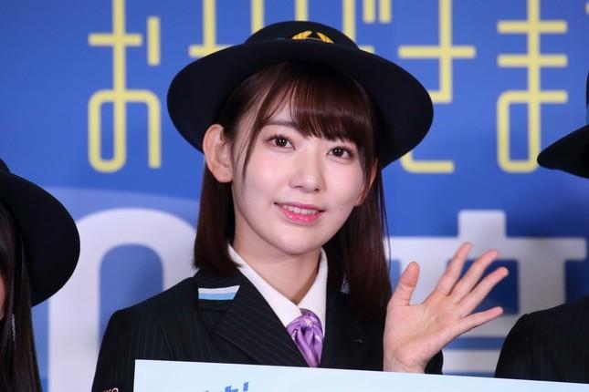 「今はあまり自信ない」と発言をトーンダウンさせたHKT48の宮脇咲良さん。「私のファンの皆さんと一緒に頑張るしかない」と話した