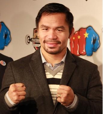 世界6階級制覇のマニー・パッキャオ(写真は2016年11月、東京・原宿でのジム設立会見)