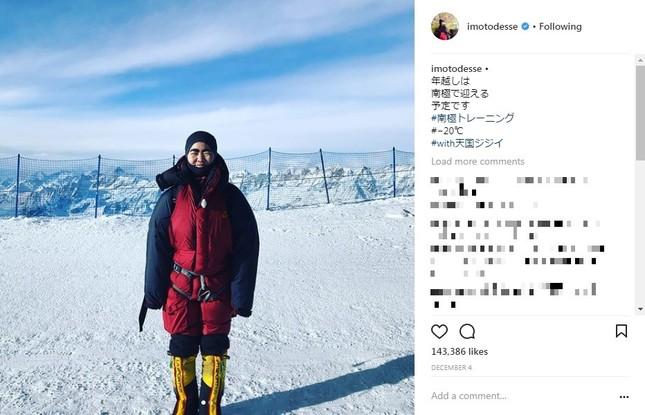 イモトさん、南極で年越し予定(画像はインスタグラムより)