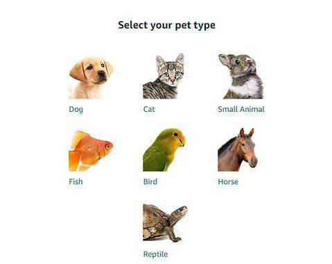 「アマゾンプロフィル」で選べる動物たちは…