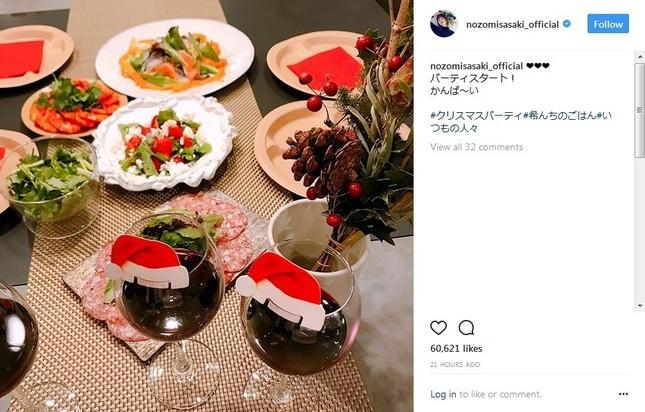 食卓に並べられた豪華料理(画像は佐々木さん公式インスタグラムより)