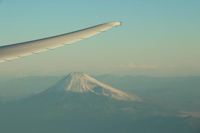 フライトは富士山の南方を通過した