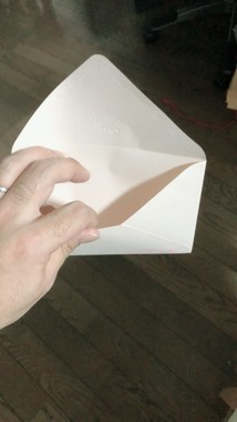 封筒は届いたが、中身は…(写真は投稿者の許諾を得て掲載しています)