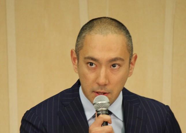インスタグラムを更新した市川海老蔵さん(2016年6月9日撮影)