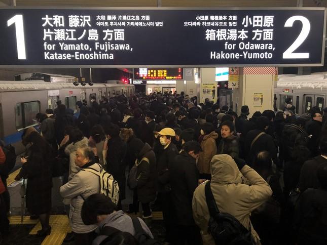 首都圏の駅では大混雑