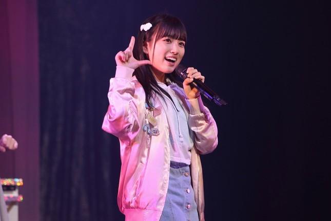 HKT48の矢吹奈子さん。指原さんに憧れてHKTに入り福岡に移り住んだ(2018年1月撮影)