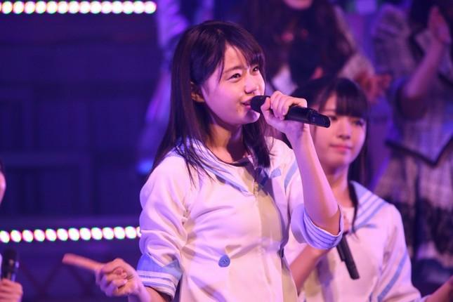 STU48の瀧野由美子さん。デビューシングル「暗闇」ではセンターポジションを務める