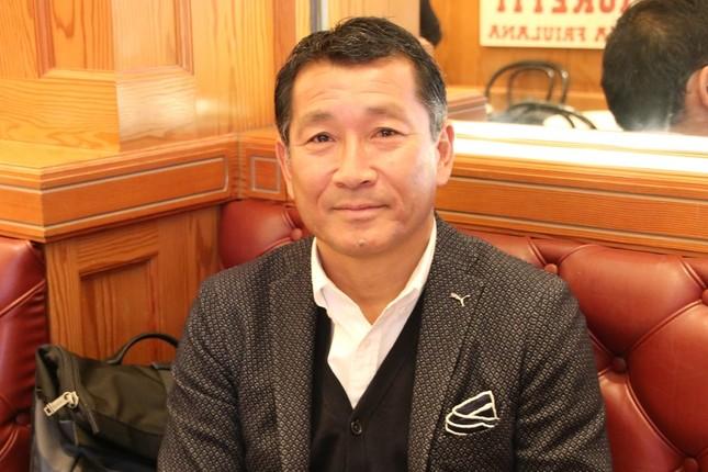 都並敏史氏(2018年1月23日、東京都内での今回のインタビュー時に撮影)