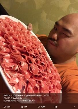 クロちゃんの食事報告ツイートに、森田医師が取ったまさかの行動は…(画像はクロちゃんのツイッターより)