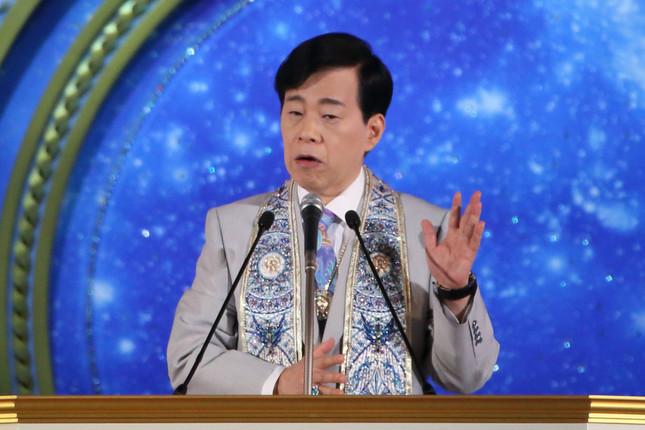 「幸福の科学」の大川隆法総裁(写真は2017年8月撮影)
