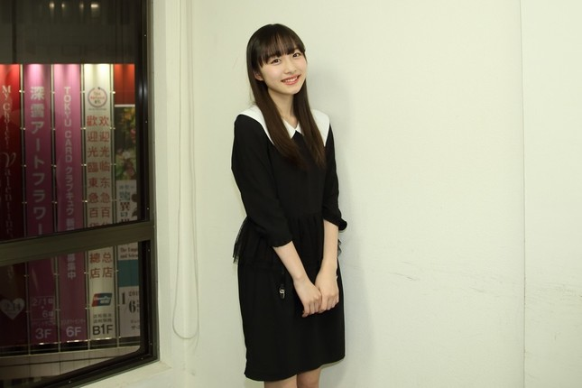 LINEのCMで話題の内田珠鈴(うちだ・しゅり)さん。「演技も歌も、どちらも成功させられるように頑張りたいです」と意気込んだ