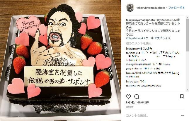 「サボンナ」ケーキ(画像は山田さんのインスタグラムより)