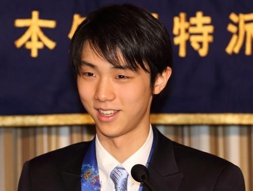 2連覇偉業の羽生結弦選手(2014年4月撮影)