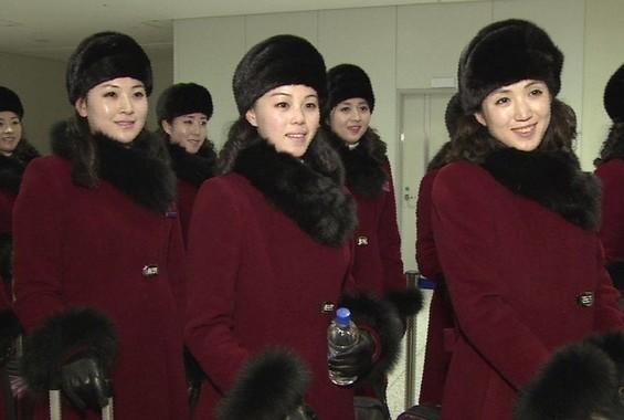 北朝鮮からの応援団も「成功」に一役買ったのか(写真は韓国統一省のツイッターから)