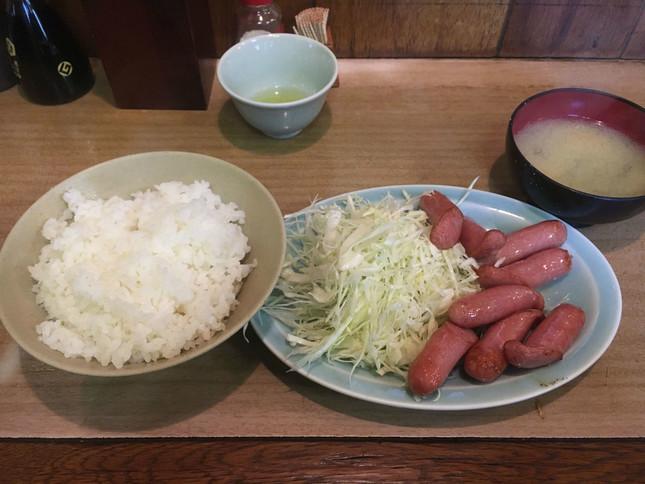 ウインナー炒定食
