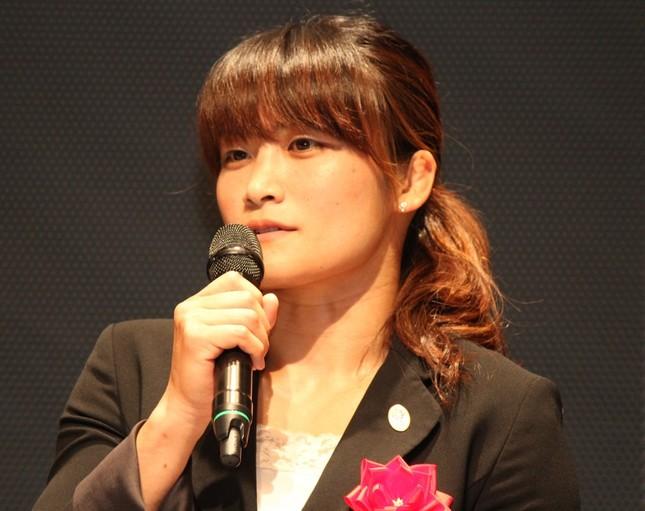 伊調馨選手(2015年6月撮影)