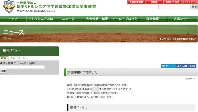 大会を主催した連盟の公式サイトに掲載された文書(すでに削除済み、編集部で一部加工)