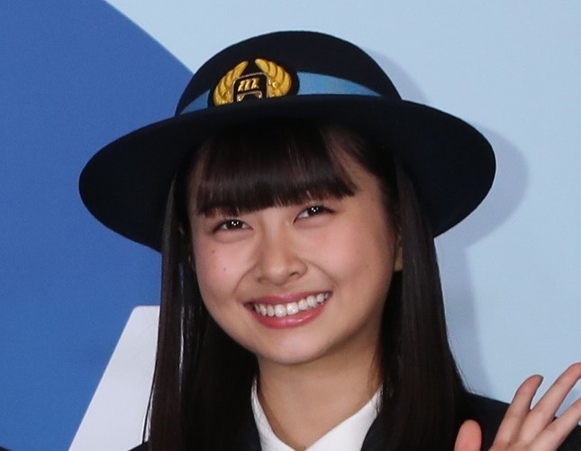 HKT48の松岡はなさん(2017年撮影)