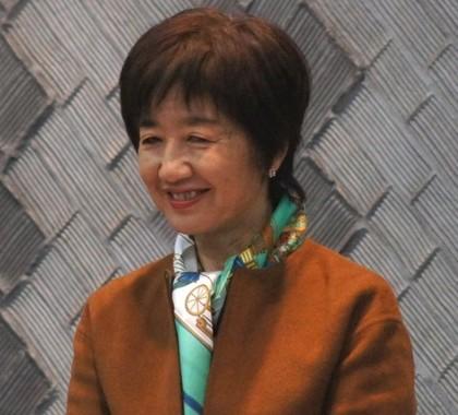「至学館大学」の谷岡郁子学長(2012年撮影。当時は参院議員)