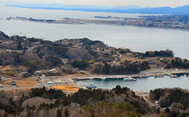 連絡船が発着する浦の浜港近くに観光施設「大島ウェルカム・ターミナル」が建設される