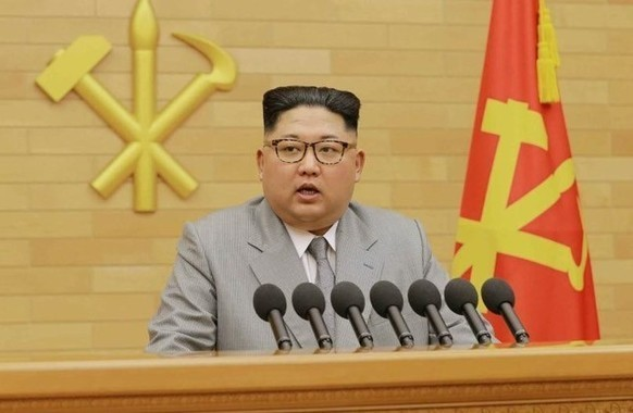 北朝鮮は森友学園をめぐる問題でも揺さぶりをかけている(写真は労働新聞から)