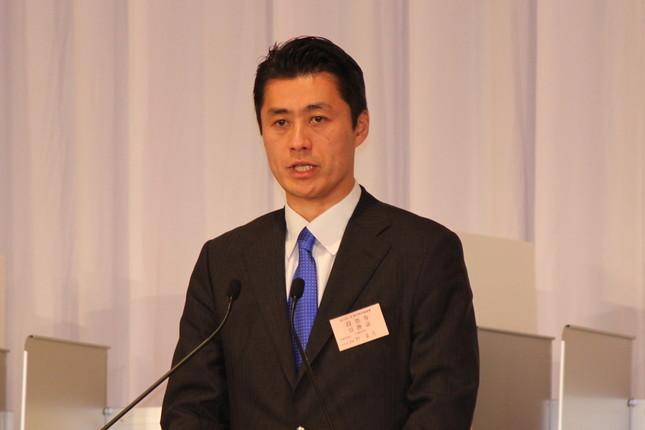 細野氏は新党には参加しない方針を明言している(2015年撮影)