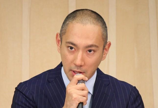 海老蔵さん(J-CASTニュース編集部撮影)