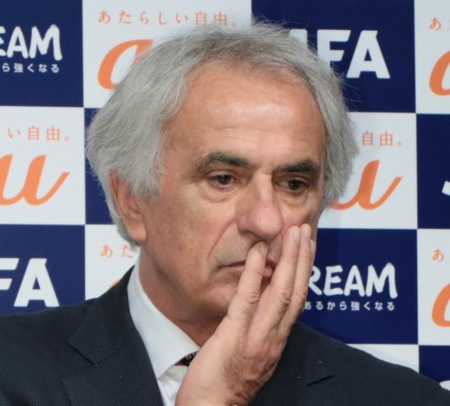 日本代表のハリルホジッチ監督が解任された(20160年8月撮影)