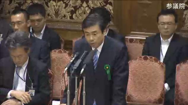 2017年7月25日の予算委員会で答弁する柳瀬唯夫審議官(画像は参議院インターネット審議中継より)