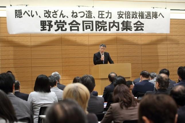 民進党の桜井充参院議員は解散総選挙を訴えた