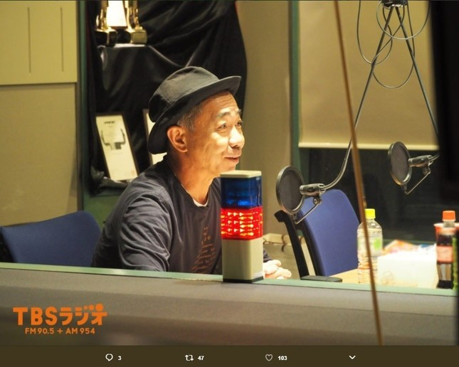 TBSラジオ「ジェーン・スー生活は踊る」に出演した「とんねるず」の木梨憲武さん(画像はラジオ番組の公式ツイッターアカウントより)