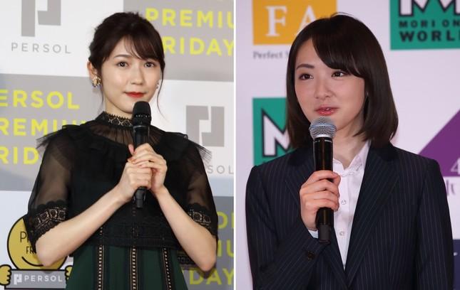 渡辺麻友さん(左、2018年2月撮影)と生駒里奈さん(右、2017年3月撮影)