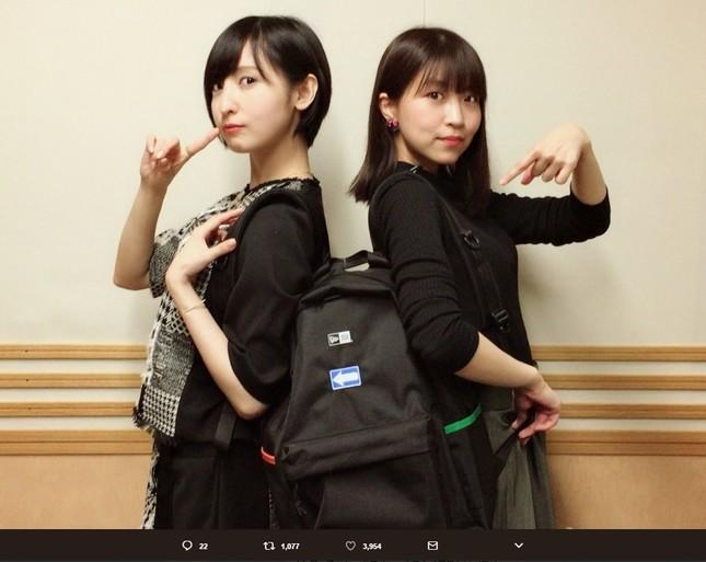 左から佐倉綾音さん、大西沙織さん(画像はラジオの公式ツイッターアカウントより)