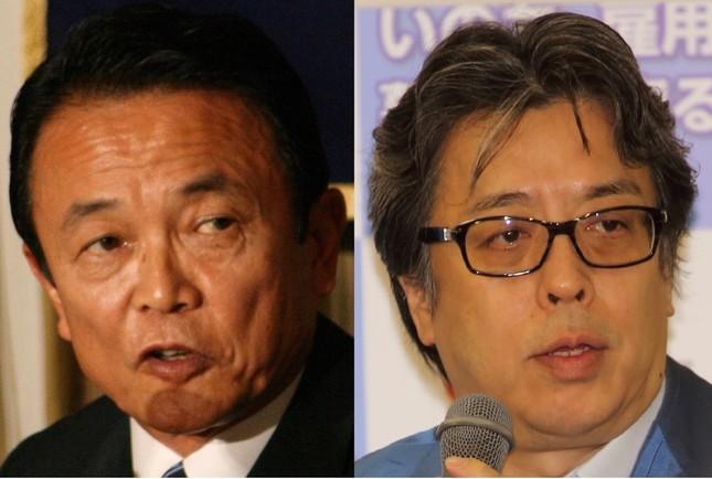 麻生太郎財務相(左)の「セクハラ罪という罪はない」発言について、小林よしのり氏が主張