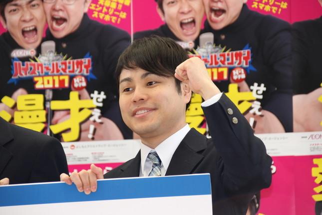 井上裕介さん(2017年4月13日撮影)