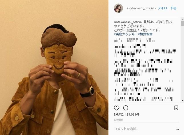 槙野選手の実物大クッキー(画像は高梨さんインスタグラムより)