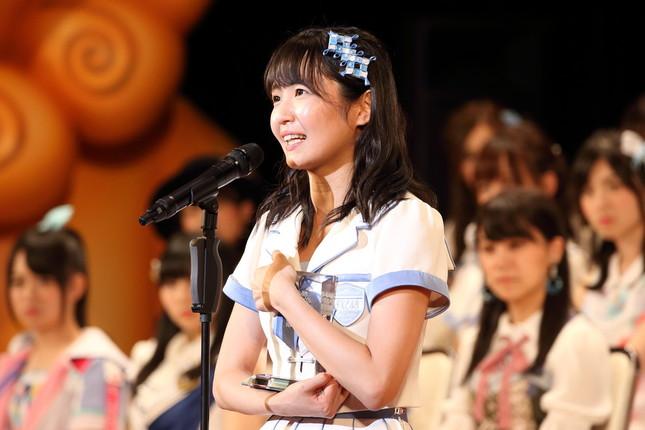 SKE48の惣田紗莉渚(そうだ・さりな)さん。2017年の最終結果は8位だった。120位圏外からの大逆転はあるのか(2017年6月撮影)