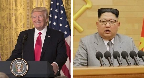 米国のトランプ大統領(左)と金正恩委員長(右)。韓国で両者の好感度が上がっている