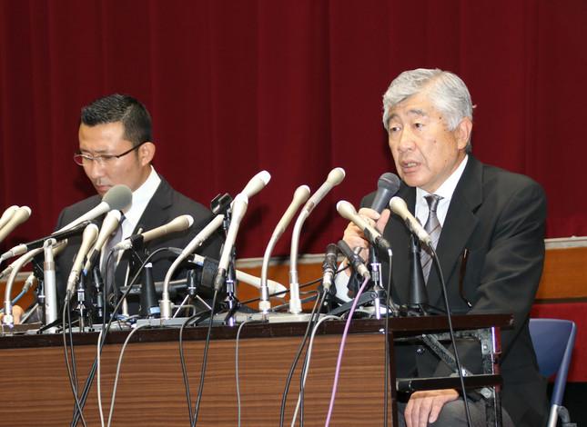 内田正人・前監督らの記者会見(写真は2018年5月撮影)