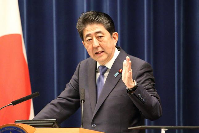 安倍晋三首相(写真は2017年9月撮影)