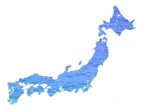 日本全国の「経県」を表す(画像はイメージ)