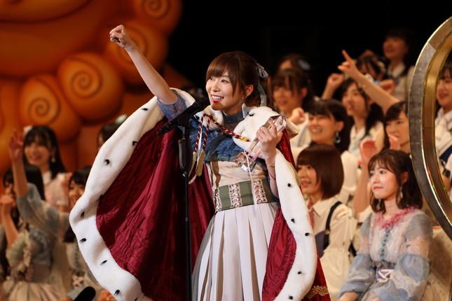 2017年に3連覇を果たしたHKT48の指原莉乃さん。「いいね!」は「1票への感謝」を強調する狙いか