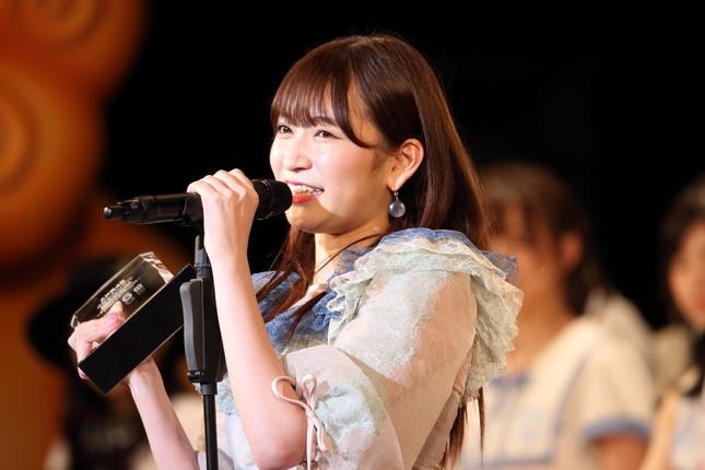 「1票への感謝」についてツイートしたNMB48の吉田朱里さん