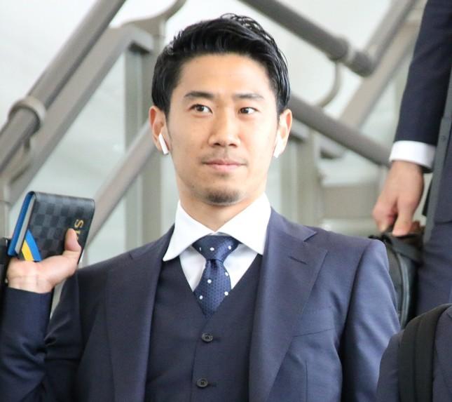 香川真司が本田とトップ下のスタメン争いをする構図となっている(2018年6月2日撮影)