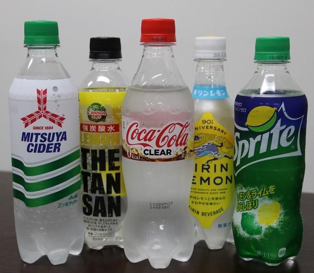 今回飲み比べた炭酸飲料たち